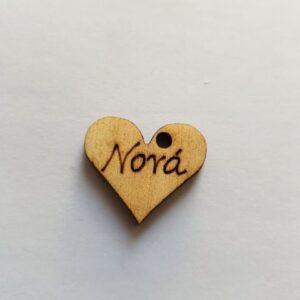 Ξύλινο Διακοσμητικό Στοιχείο Νονά καρδιά 2,2εκχ2εκ.