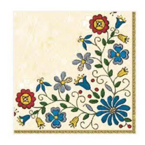 Χαρτοπετσέτα Μοτίβο με Λουλούδια
