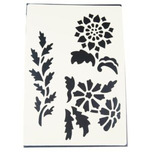 STENCIL Λουλούδια-Φύλλα