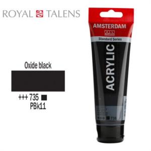 Ακρυλικό Talens Amsterdam 735 Oxide Black 120ml