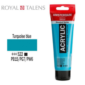 Aκρυλικό Talens Amsterdam 522 Turquoise Blue 120ml