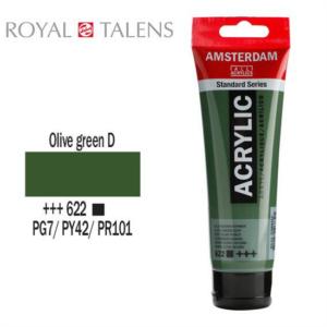 Ακρυλικό Talens Amsterdam 622 Olive Green D. 120ml