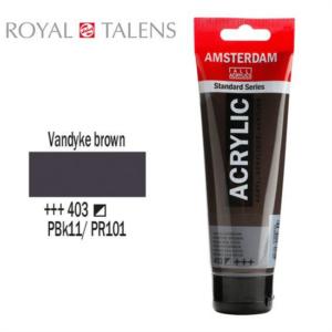 Ακρυλικό Talens Amsterdam 403 Vandyke Brown 120ml