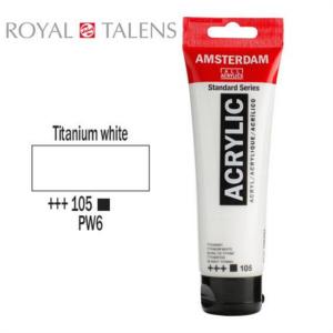 Ακρυλικό Talens Amsterdam 105 Titanium White 120ml