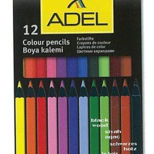 Ξυλομπογιές Σετ Adel 12 χρώματα