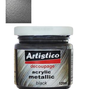 Ακρυλικό Μεταλλικό Χρώμα Μαύρο 120ml