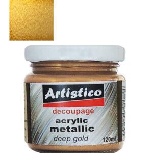 Ακρυλικό Μεταλλικό Χρυσό Σκούρο Artistico 120ml