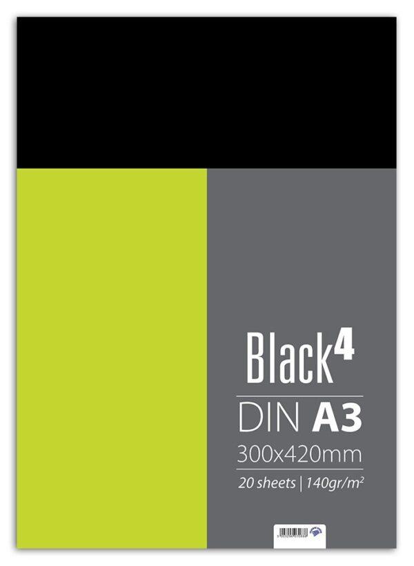 Μπλοκ Σχεδίου Μαύρο DIN A3 300X420mm