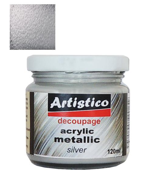 Ακρυλικό Μεταλλικό Ασημί 120ml