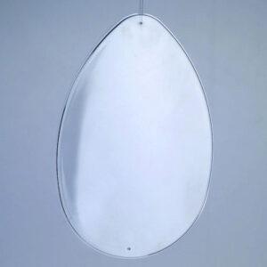 Αυγό Πλαστικό Διάφανο Επίπεδο 90mm