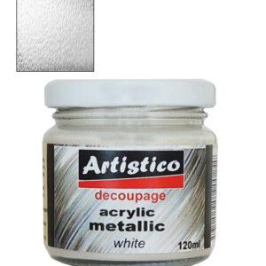 Ακρυλικό Μεταλλικό Χρώμα Λευκό 120ml