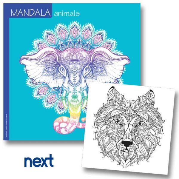 Βιβλίο Mandala Animals 23x23εκ.