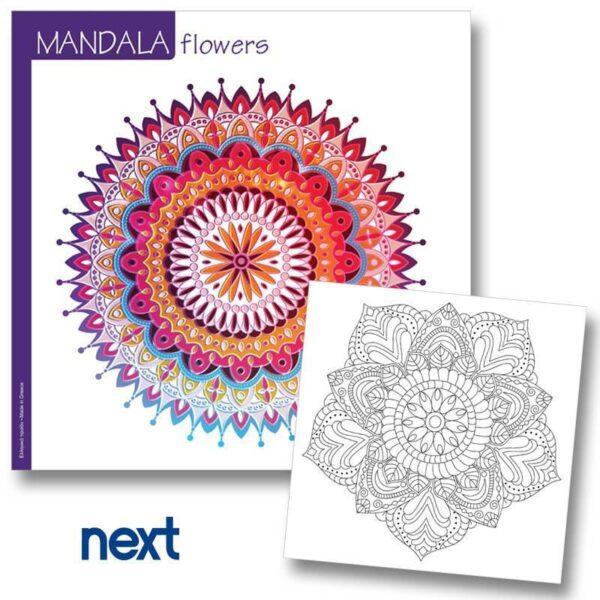 Βιβλίο Mandala Flowers 23x23εκ.